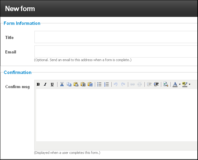 New Feature for building mobile-optimized websites with iFlyMobi: Create Forms